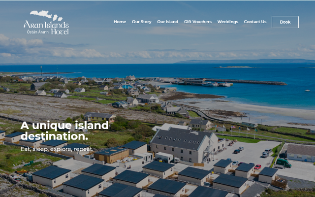Aran Islands Hotel Web Design Sidekick Media